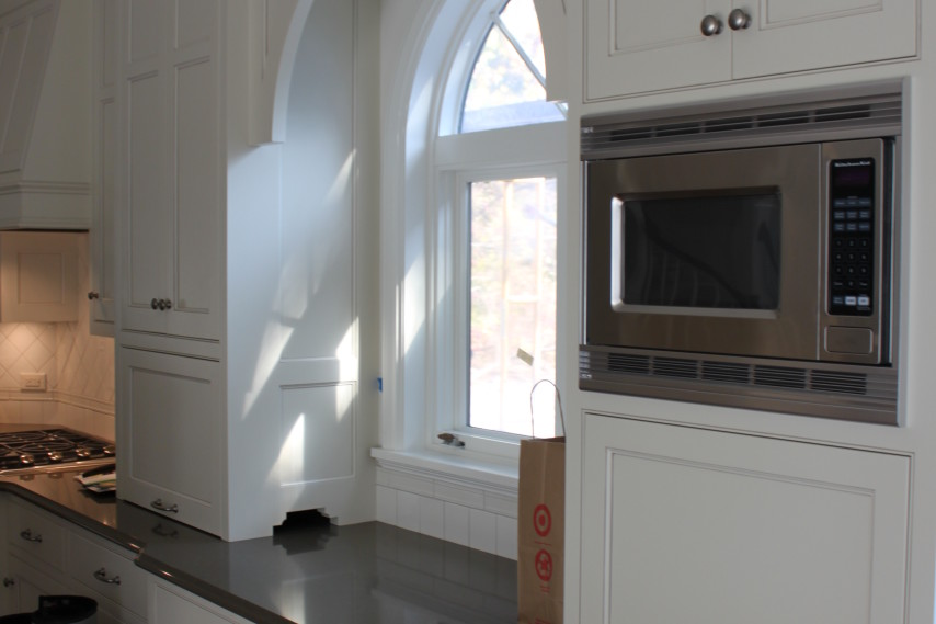 kitchen remodel, painted cabinets, white cabinets, stainless steel appliances