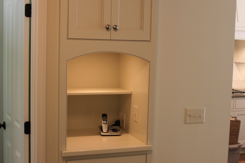 kitchen remodel, painted cabinets, white cabinets, built ins