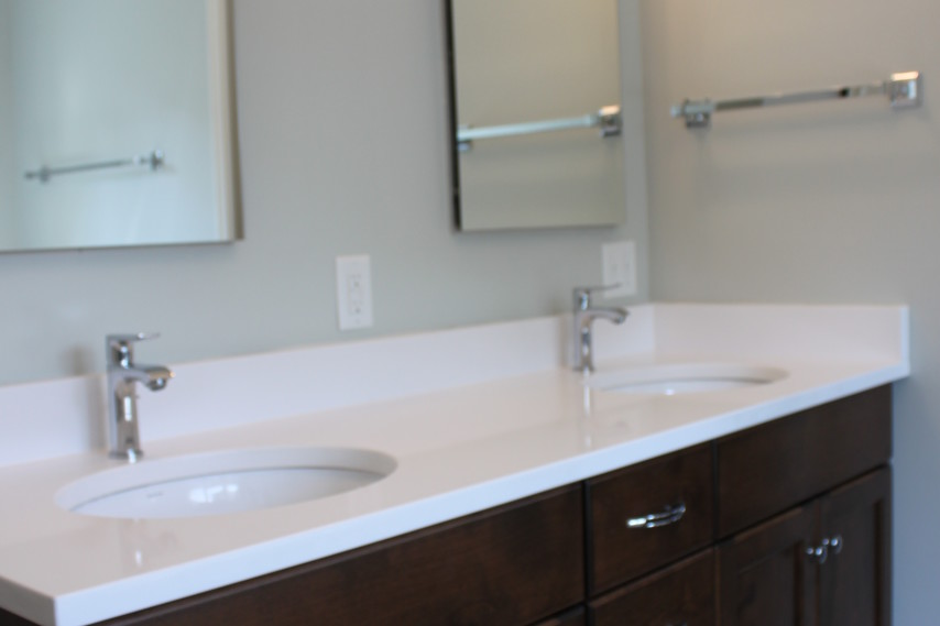 remodeled bathroom, double sink